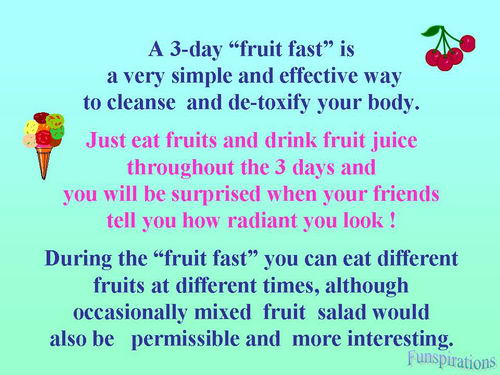 3 day fruit fast