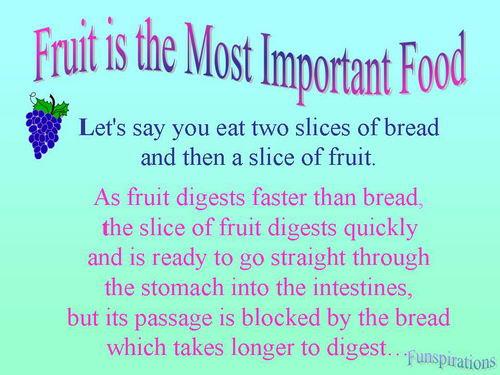 fruit the most important food