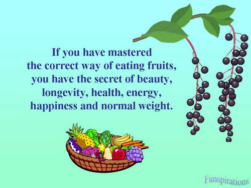 fruits the secret to good health