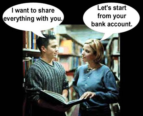 lets share your bank account