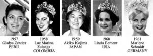 miss universe 1957-1961