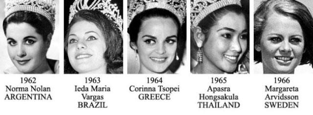 miss universe 1962-1966