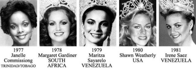 miss universe 1977-1981