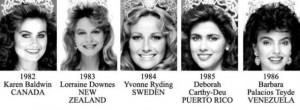 miss universe 1982-1986