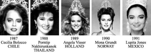 miss universe 1987-1991