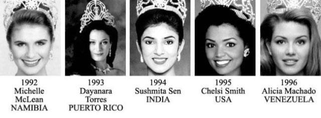 miss universe 1992-1996