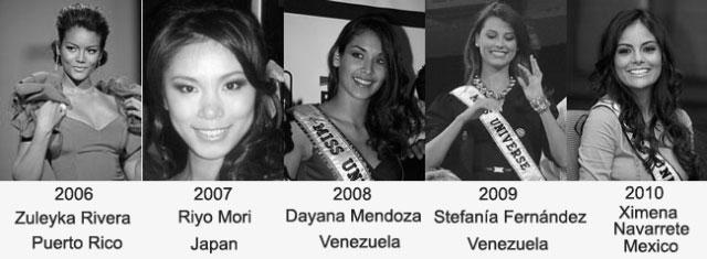 miss universe 2006-2010