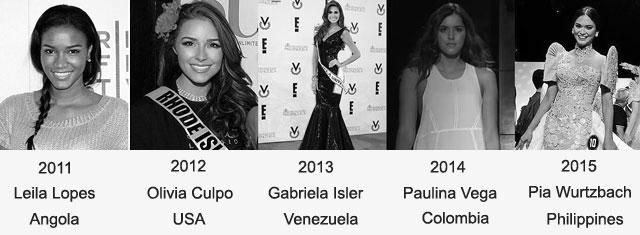 miss universe 2011-2015