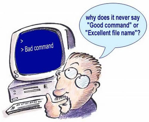 never says good command