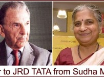 Sudha Murthy letter to JRD Tata