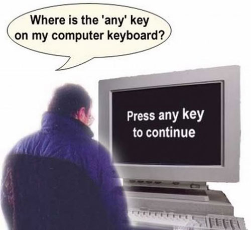where is the any key