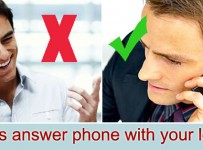 answer phone with left ear