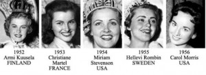 miss universe 1952-1956