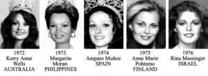 miss universe 1972-1976