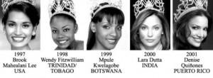 miss universe 1997-2001