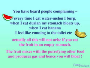 no fruits after meal