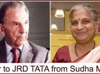 Sudha Murthy letter to JRD Tata